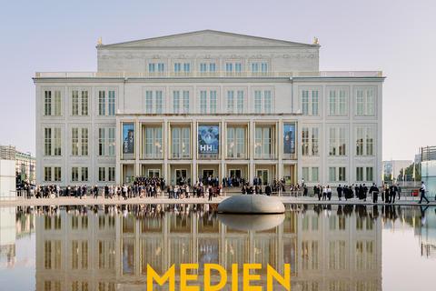 Oper Leipzig am Tag der Veranstaltung.