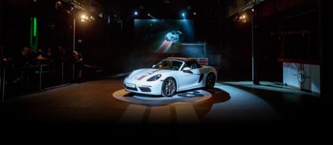 Inszenierung des Porsche 718